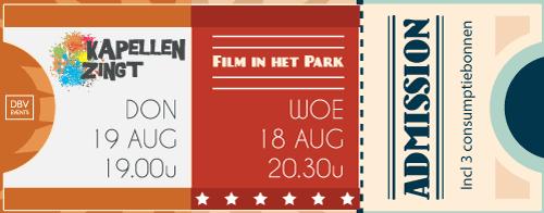 Combiticket Film in het Park + Kapellen Zingt